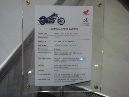 Honda Fury  Tech Specs