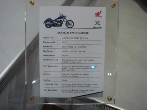 Honda Fury  Tech Specs