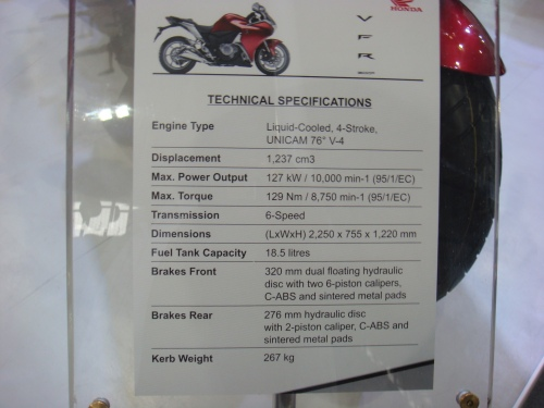 VRF 1200F Tech specs