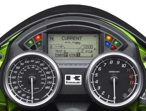 2012 Kawasaki Ninja ZX14R Digital Console and Speedometer 2