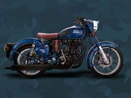 Royal Enfield Bullet Blue Despatch 500cc