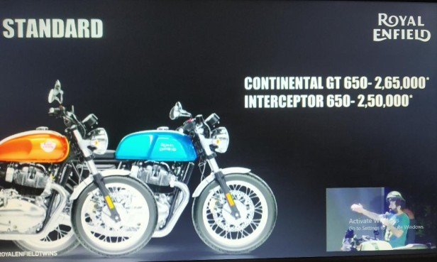 Royal Enfield Interceptor 650 And Continental Gt 650 Launched In